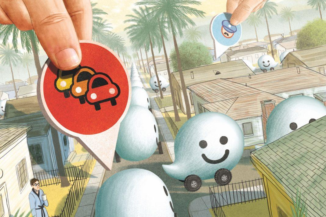 illustration of Waze