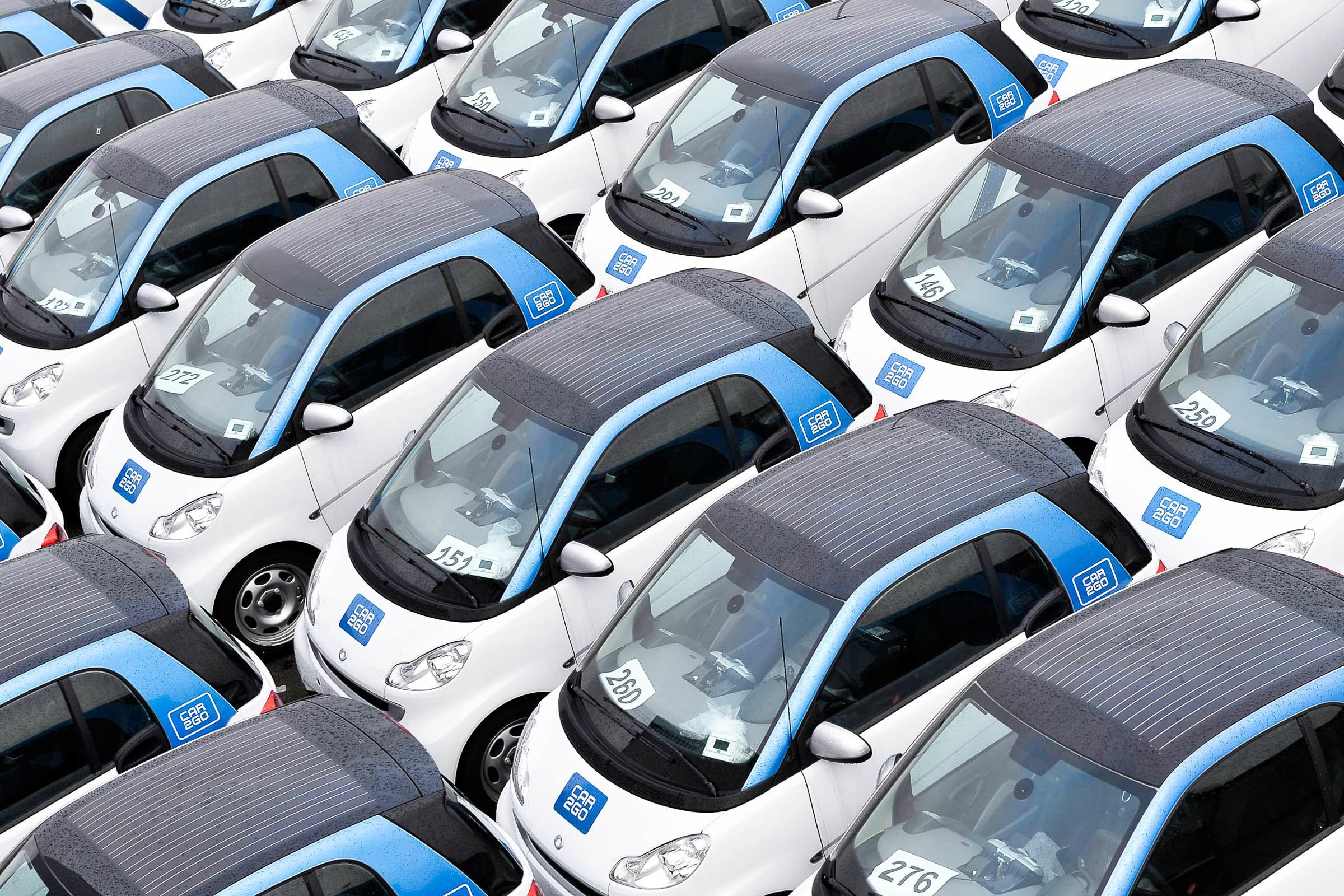 car2go vehicles