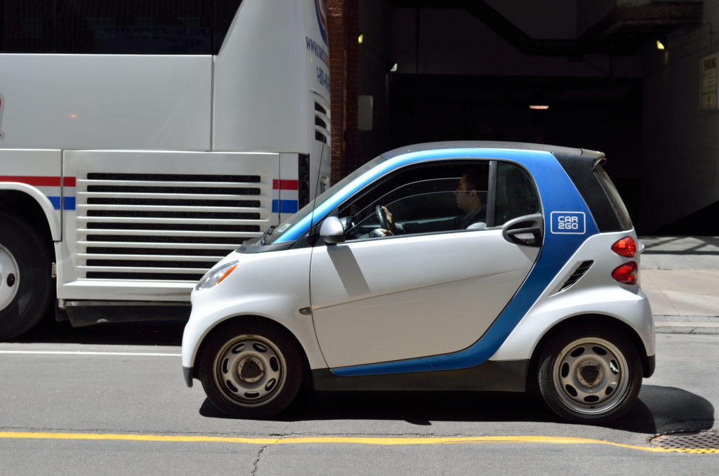photo of car2go vehicle
