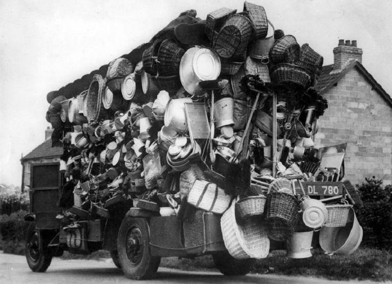 retro photo of peddlers
