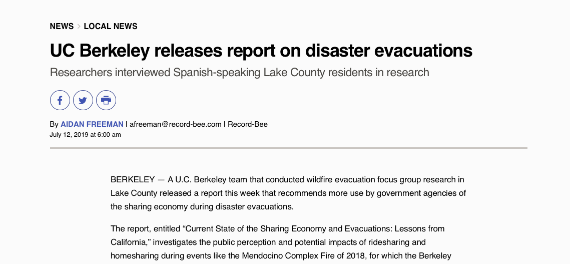 Evacuations | Transportation Sustainability Research Center