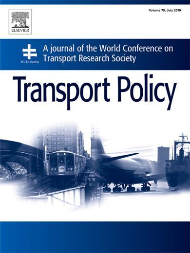 cover page of transport policy journal